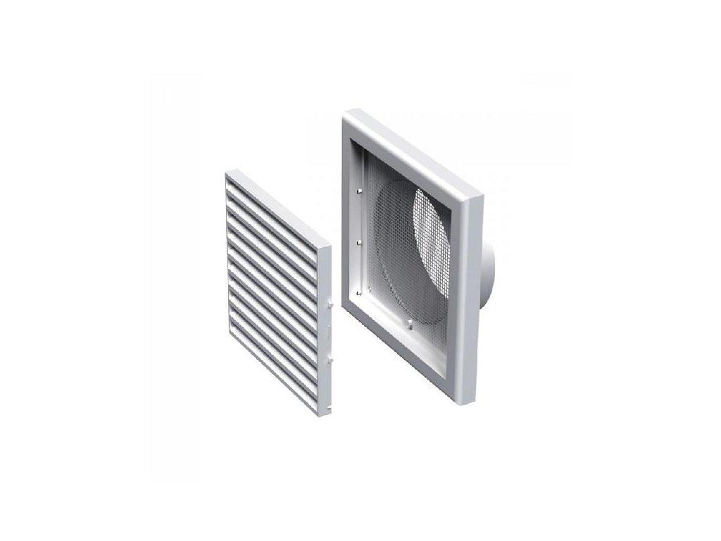 Ventilační mřížka plastová 187x187-125 mm MV120Vs