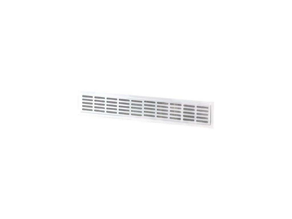 Ventilační mřížka do dveří 476x80 mm MVM475x80/10-3 bílá