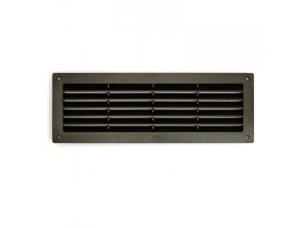 Ventilační mřížka do dveří 368x130 MV350-hnědá