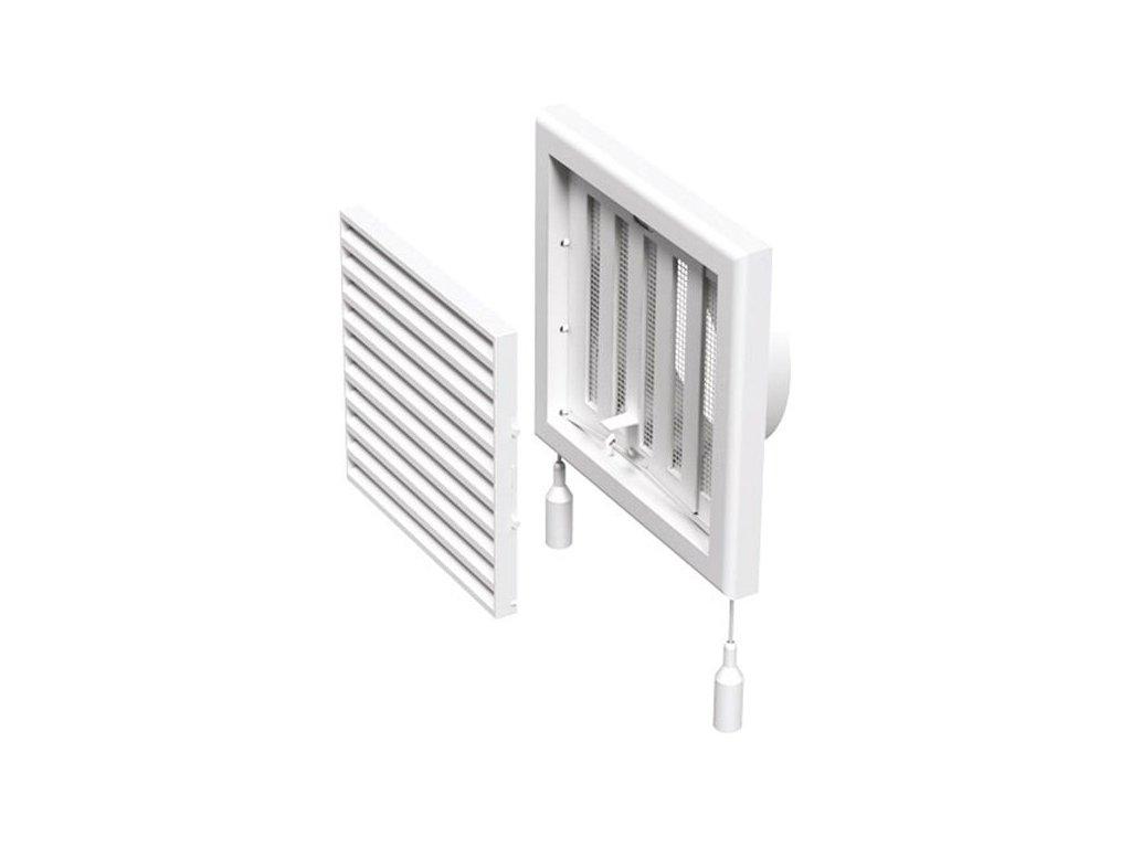 Ventilační mřížka s regulací 154x154-100 mm MV100 VRs