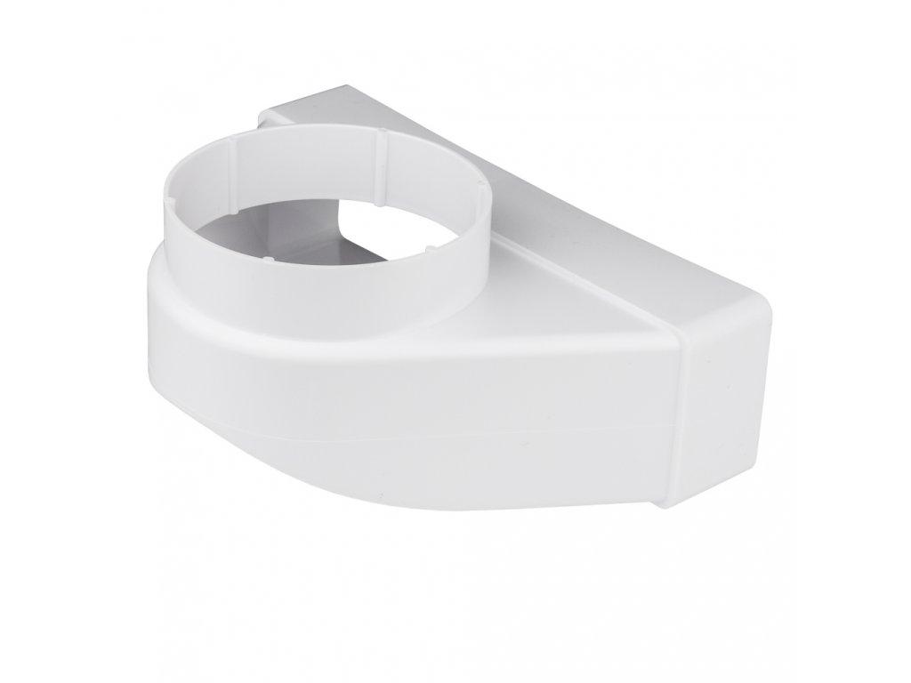 Redukce ohlá z průměru 100 na kanál 204x60/90 PVC 821