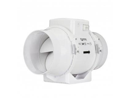 ventilator do potrubi axialni plastovy s prepinacem rychlosti o 100 mm 379 1