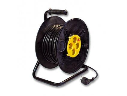 23602 prodluzovaci kabel na bubnu 25m 4 zasuvky 230v