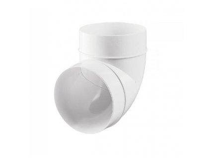 Plastový pevný ohyb D/KO/90° na trubkový kanál 125 mm PVC 222p