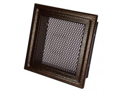 Ventilační mřížka krbová 112x112 antická měď