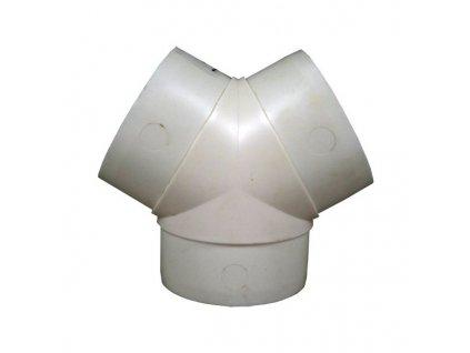 Odbočka Y pro kruhové potrubí 100 mm PVC 499
