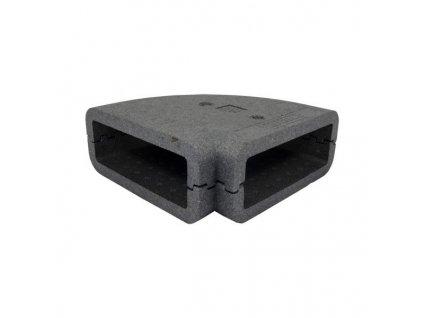 Izolace ventilačního kolena 204x60 mm/90st.