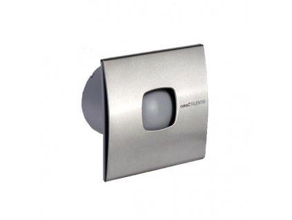 Ventilátor koupelnový Cata SILENTIS 10 T INOX s časovým doběhem