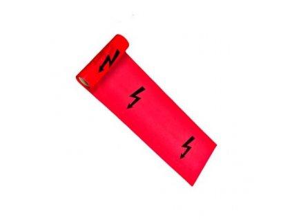 330x0 10 vystrazna folia s bleskom cervena