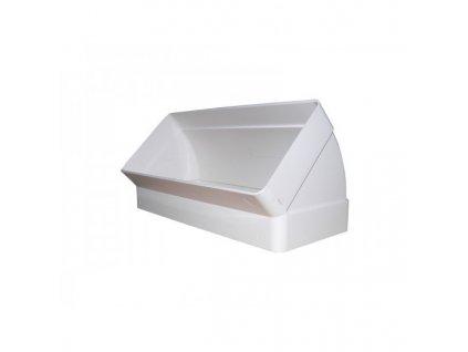 Ohyb plochého kanálu kolmý 220x90 mm - 45st. PVC