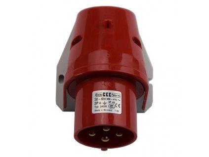 Vidlice přívodka nástěnná 4x 32A/380V IP44 Bals 24330