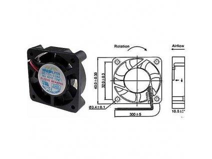 Ventilátor přístrojový  12V/ 40x40x10 mm