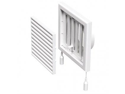 Ventilační mřížka s regulací 187x187-125 mm MV120 VRs