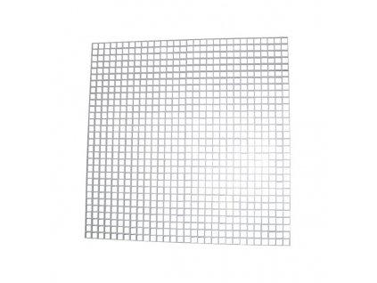 Ventilační mřížka do podhledu 600x600 mm bílá vzor 1