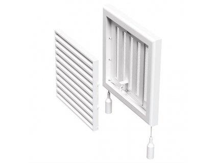 Ventilační mřížka s regulací 154x154 mm MV100 Rs