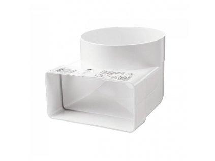 Redukce ohlá z průměru 104 na kanál 110x55/90 PVC 521