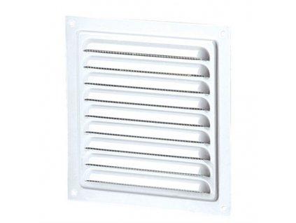 Ventilační mřížka kovová 150x150 mm MVM150s kov-bílá