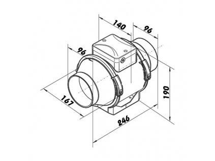 dalap ap 100 t ventilator s termostatem