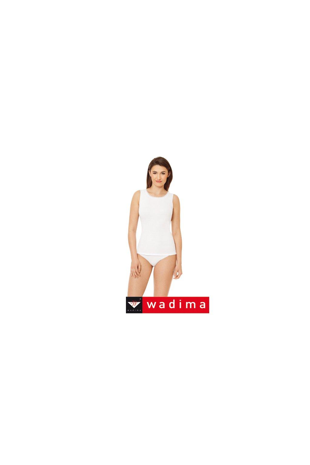 Dámská košilka se širokými ramínky, 10269 1, bílá