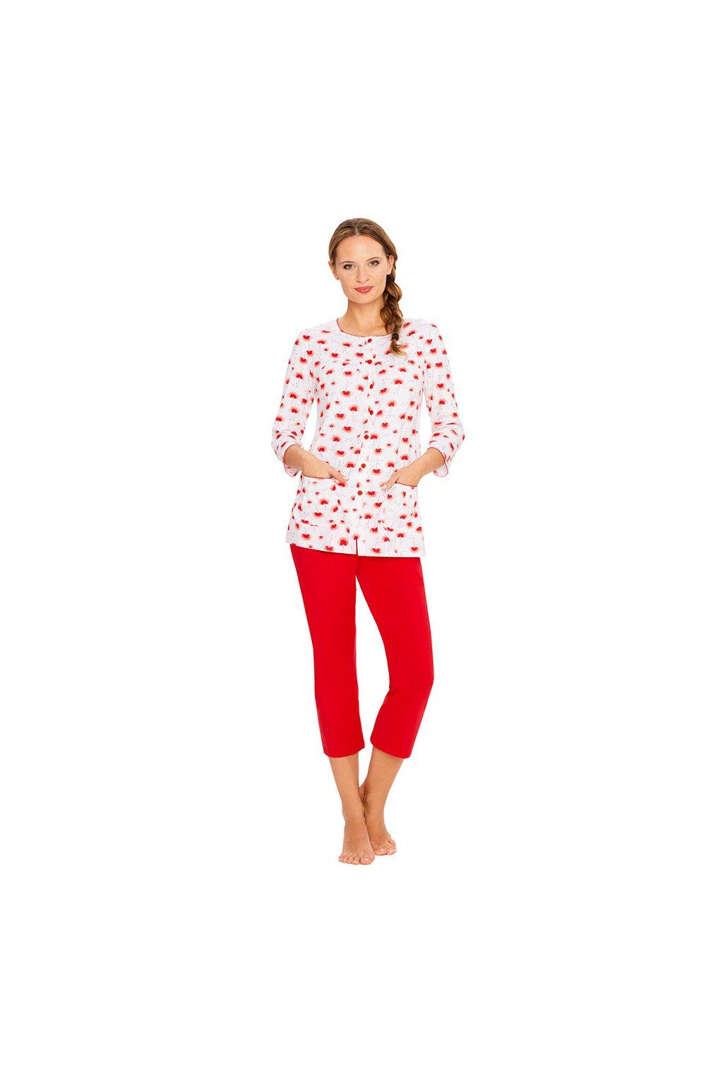 Dámské pyžamo s 3/4 rukávem, 104323 894, bílá