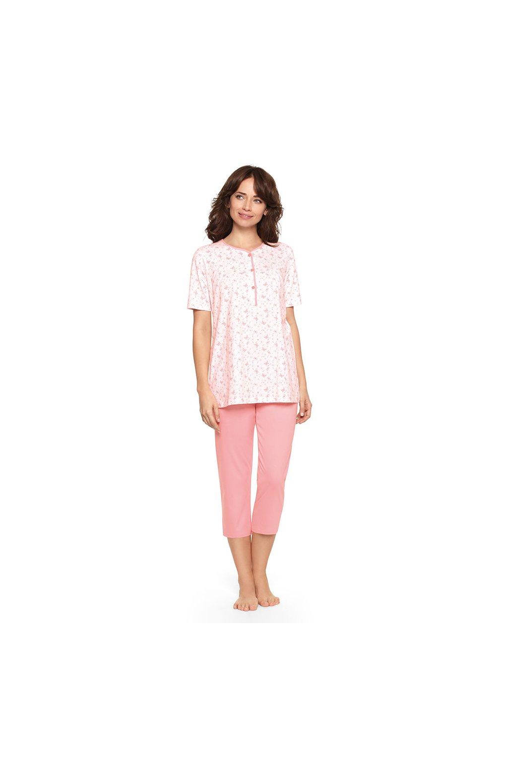 Dámské pyžamo s krátkým rukávem a 3/4 nohavicemi, 104447 922, bílá