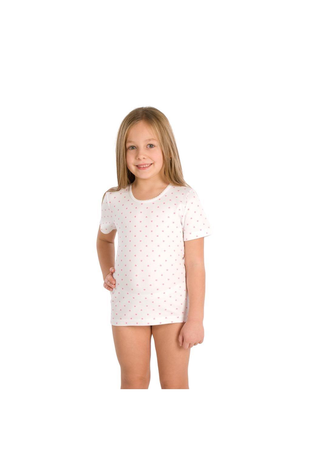 Dívčí košilka s krátkým rukávem, 40214 1, bílá