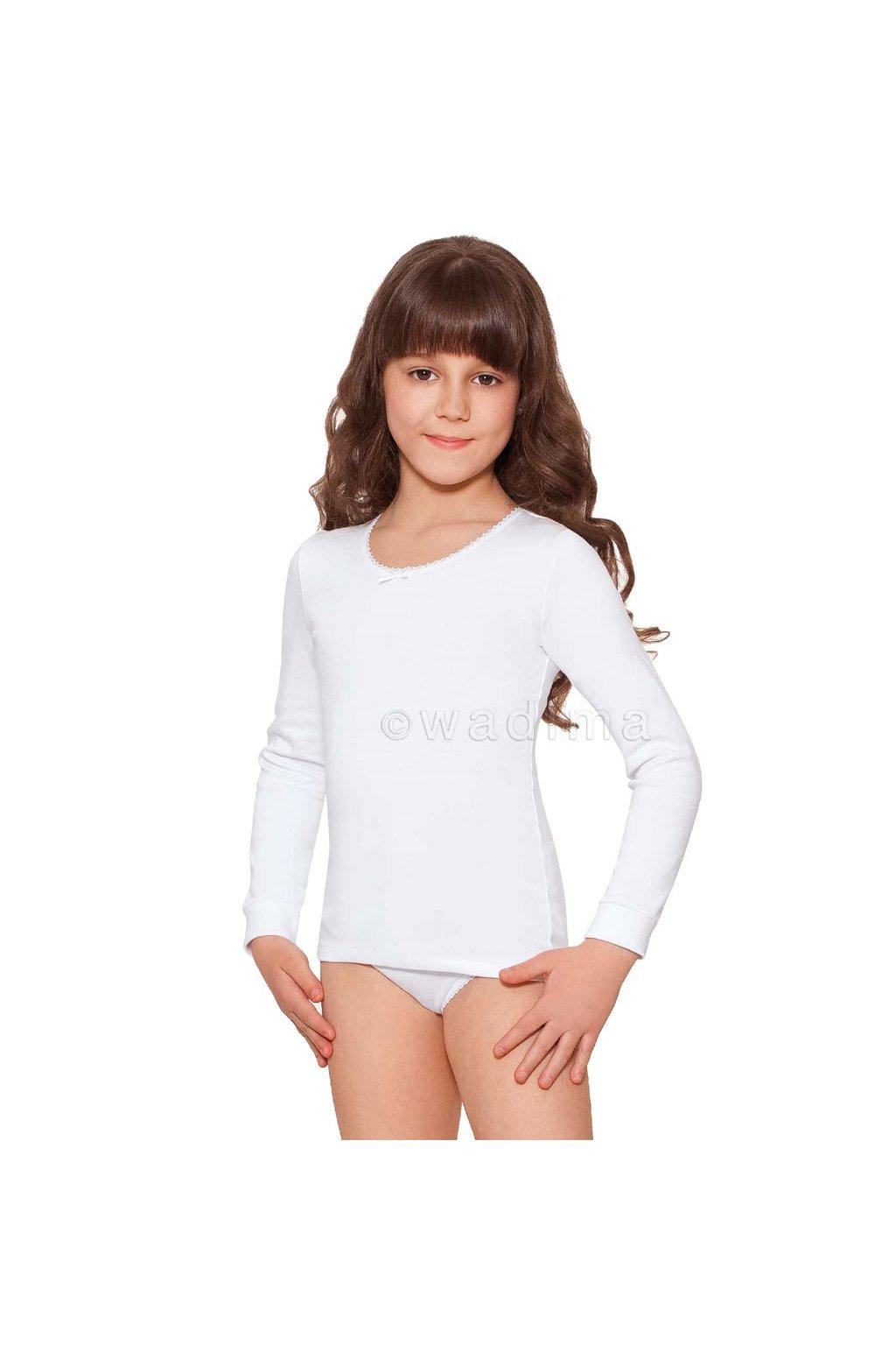Dívčí košilka s dlouhým rukávem, 40249 1, bílá