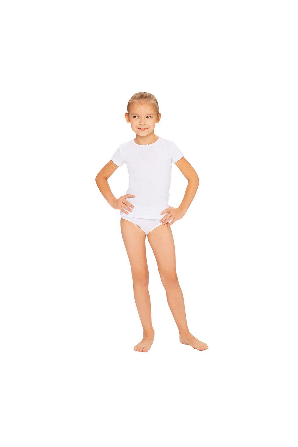 Dívčí košilka s krátkým rukávem, 40253 1, bílá