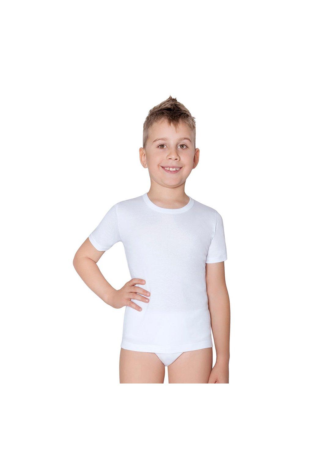 Chlapecký nátělník s krátkým rukávem, 50204 1, bílá