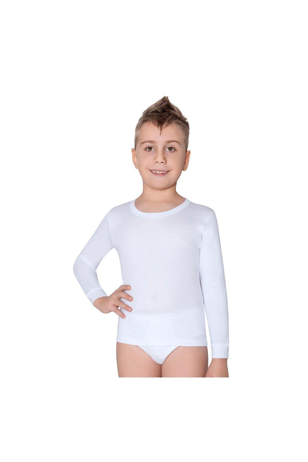 Chlapecký nátělník s dlouhým rukávem, 50205 1, bílá