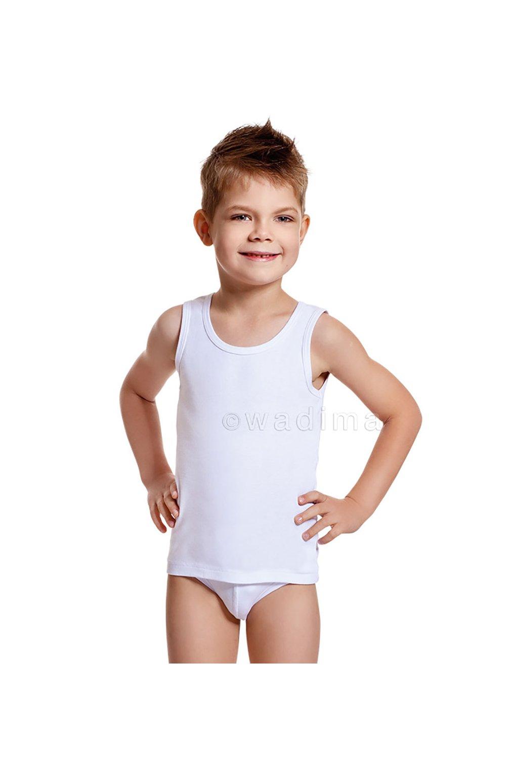 Chlapecký nátělník se širokými ramínky, 502DANIEL 1, bílá