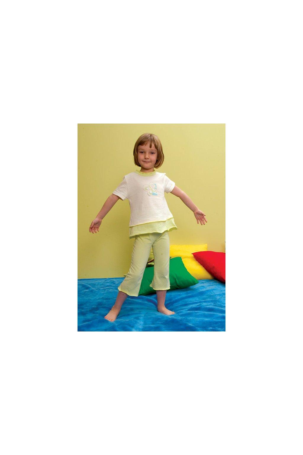 Dívčí pyžamo s krátkým rukávem, 40416k 3, smetanová