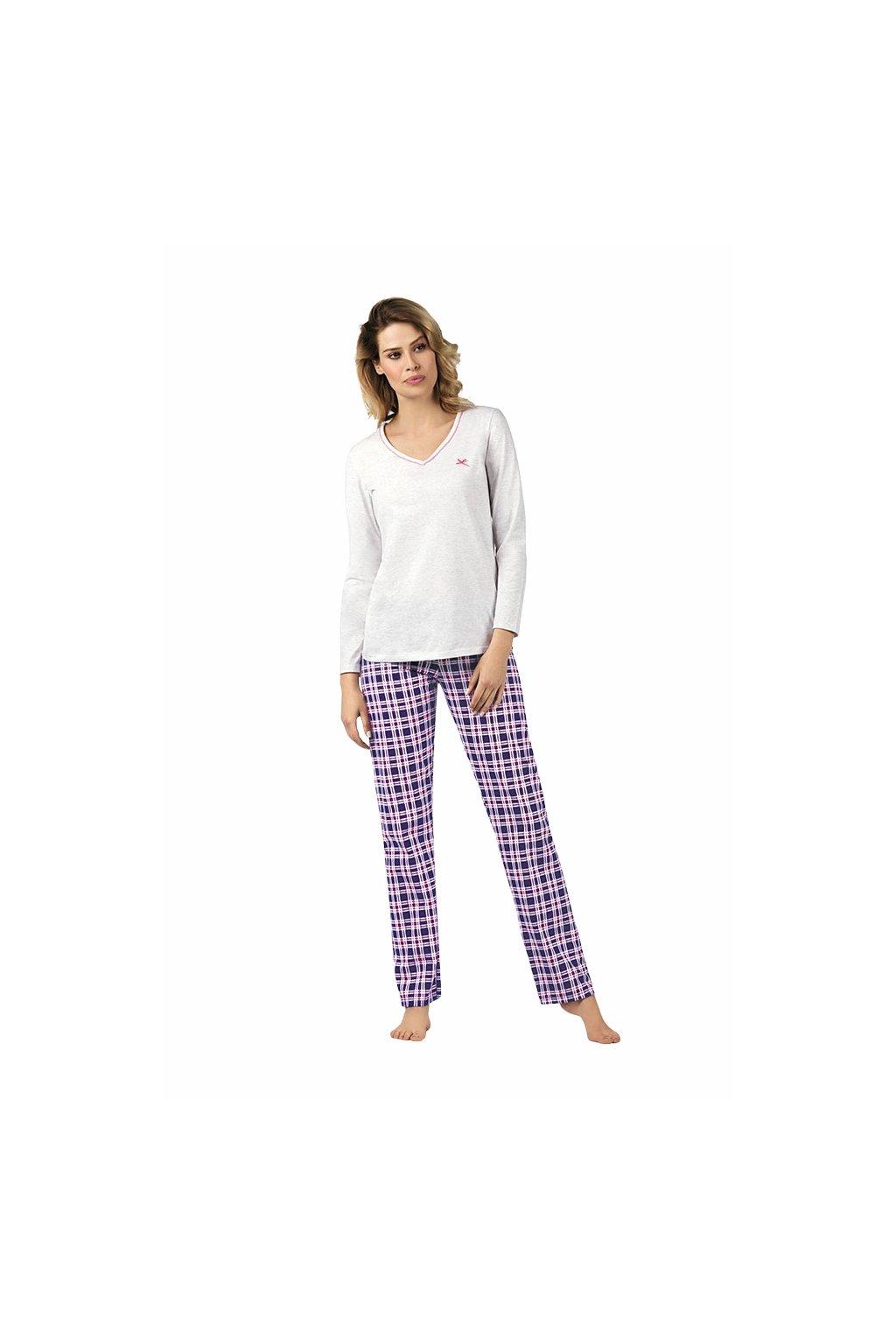 Dámská pyžamová halenka se 7/8 rukávem, 104417 388, smetanová