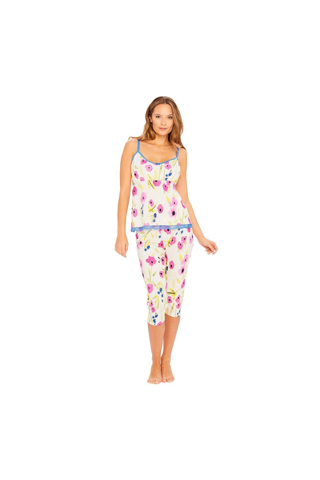 Dámské pyžamo s úzkými ramínky, 104398 130, smetanová