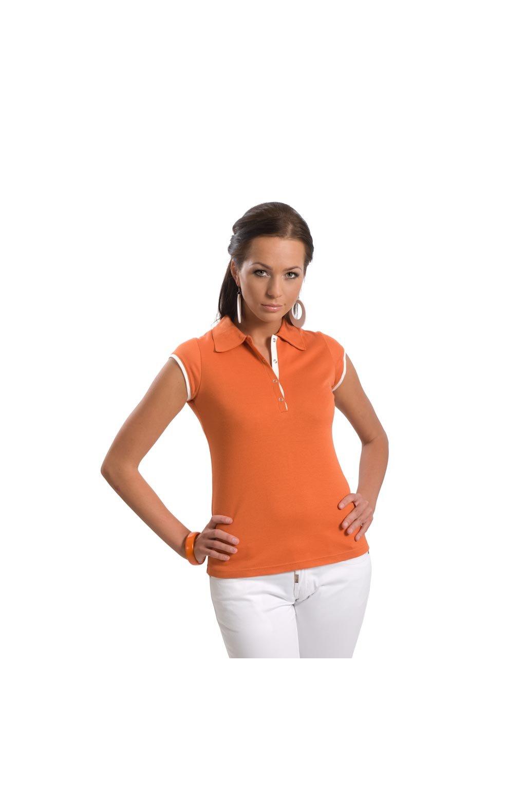 Dámská halenka s krátkým rukávem, 10382 96, pomerančová