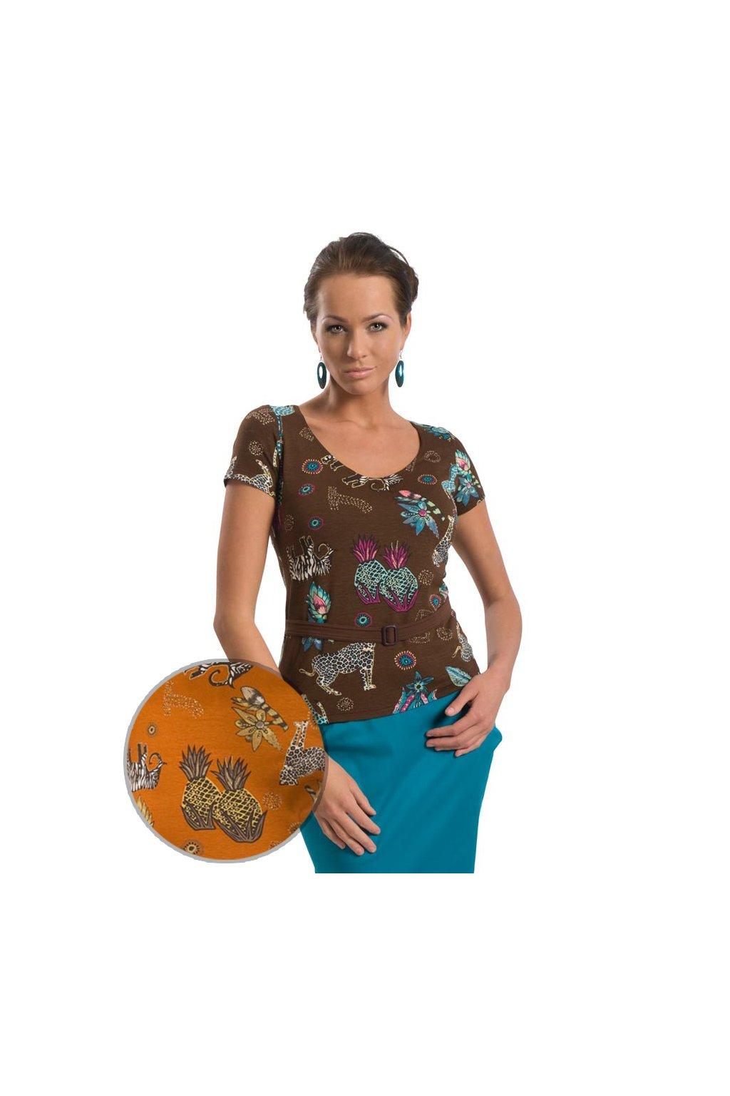 Dámská halenka s krátkým rukávem, 10385 96, pomerančová