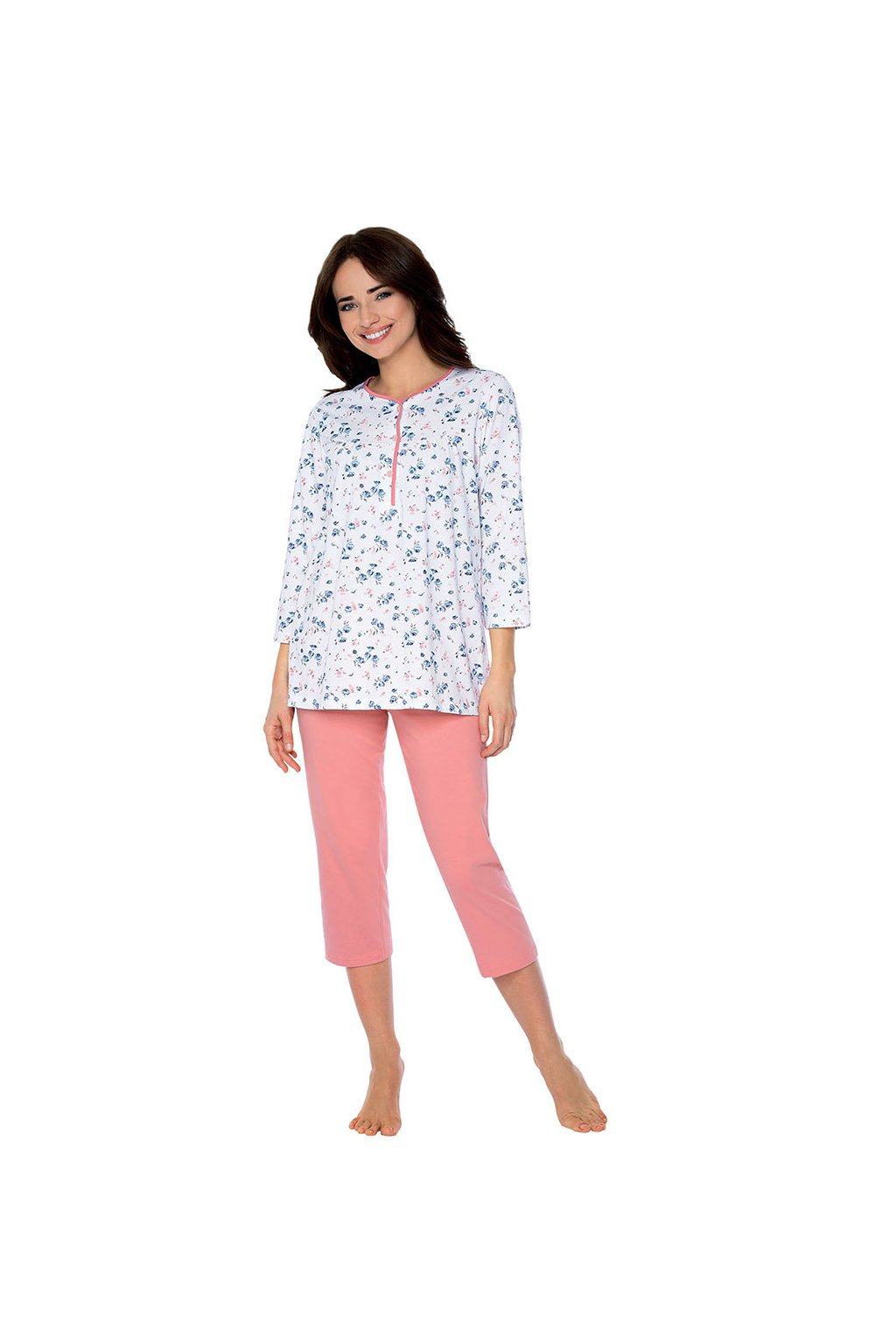 Dámské pyžamo s 3/4 rukávem, 104450 67, růžová