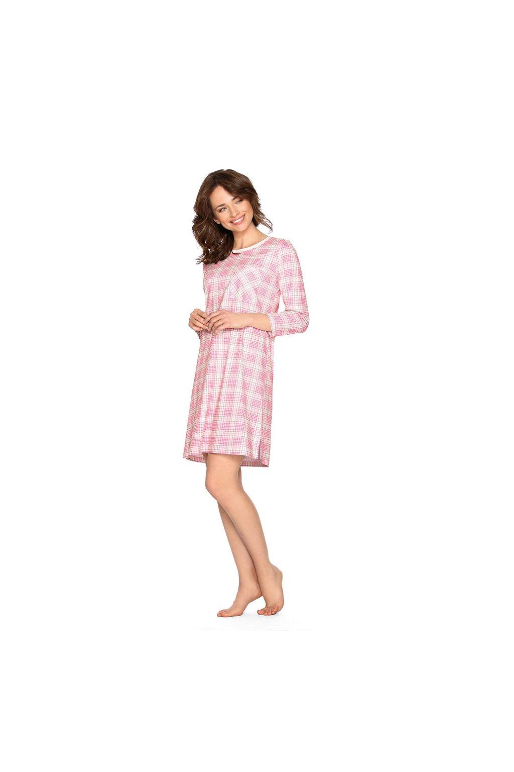 Dámská noční košile se 7/8 rukávem, 104462 366, růžová