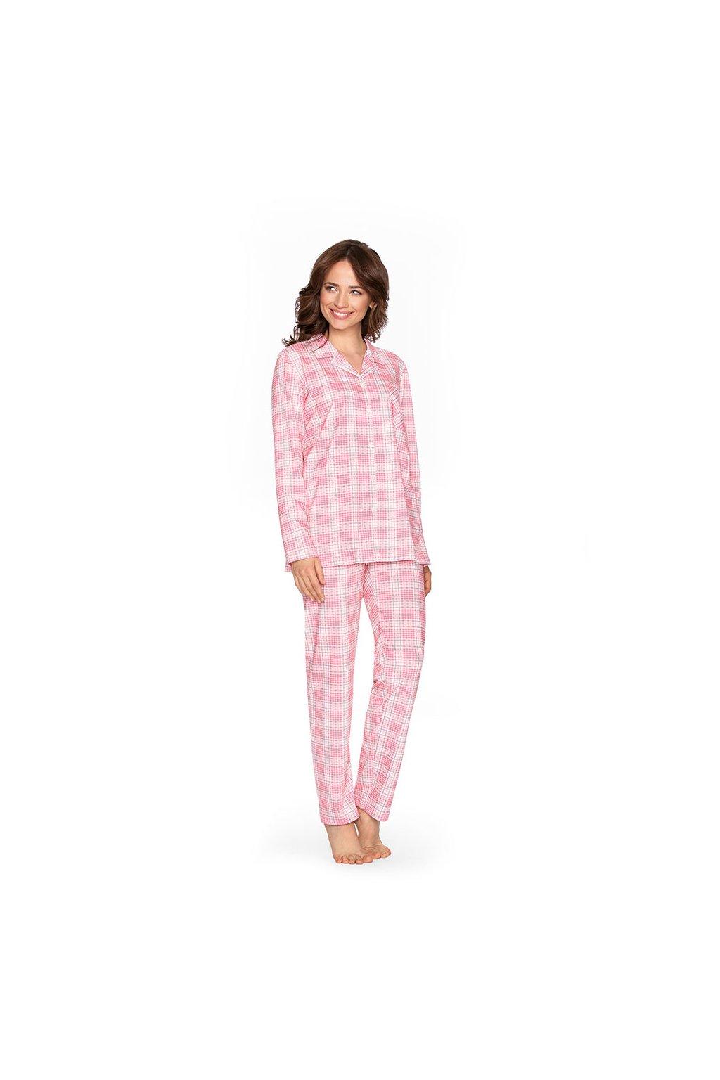 Dámské pyžamo s dlouhým rukávem, 104463 366, růžová