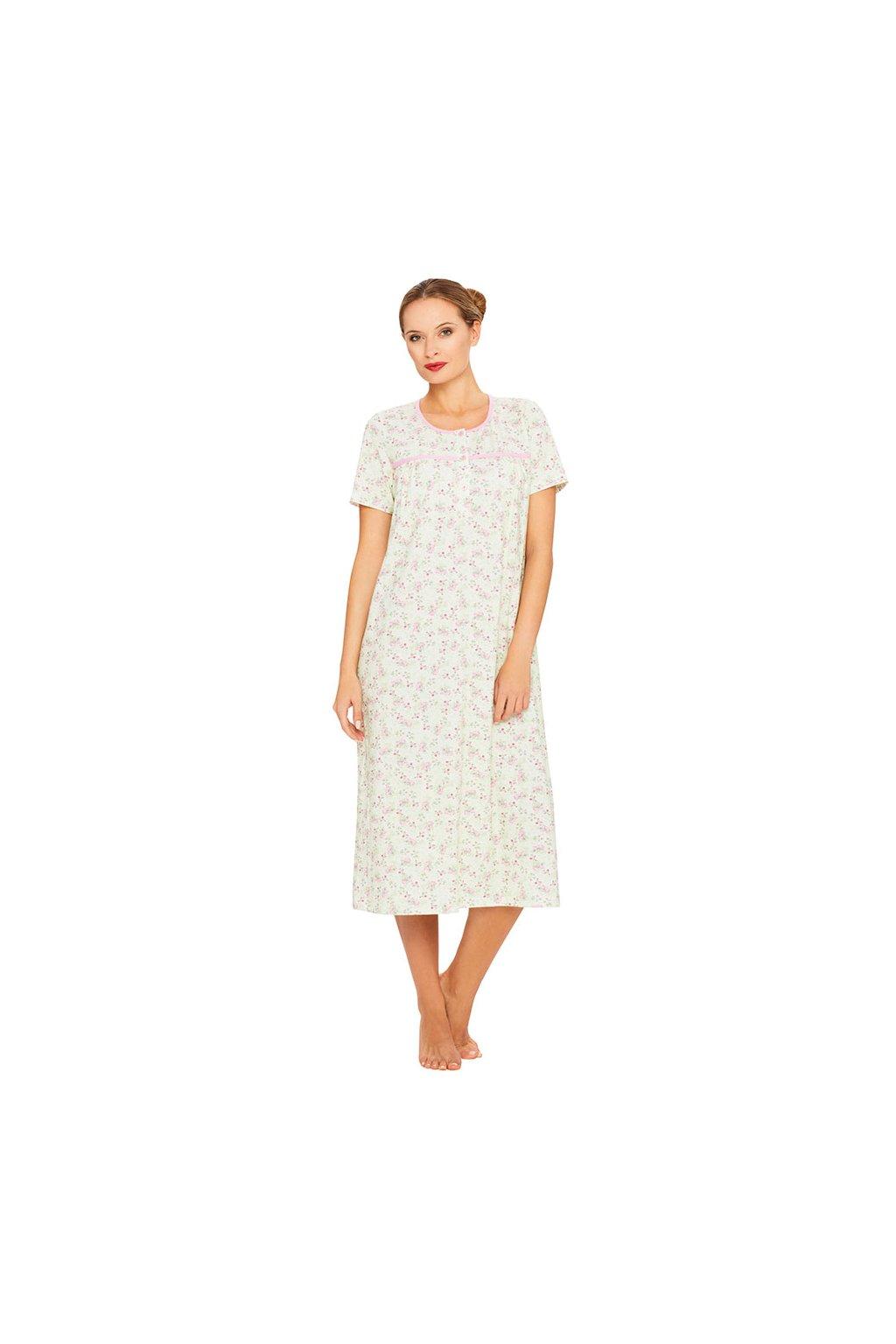 Dámská noční košile s krátkým rukávem, 104372 8, růžová