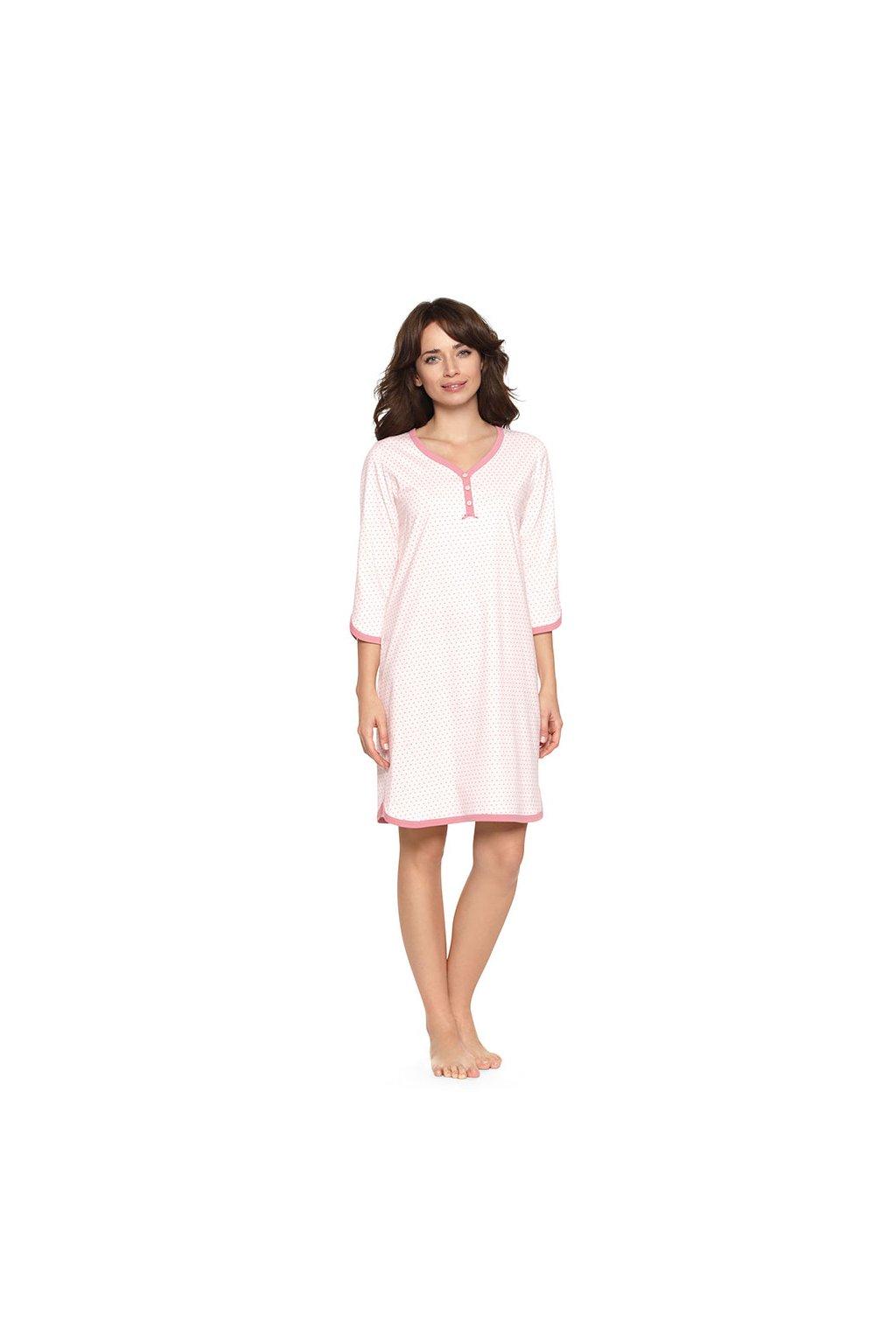Dámská noční košile s 3/4 rukávem, 104382 62, růžová
