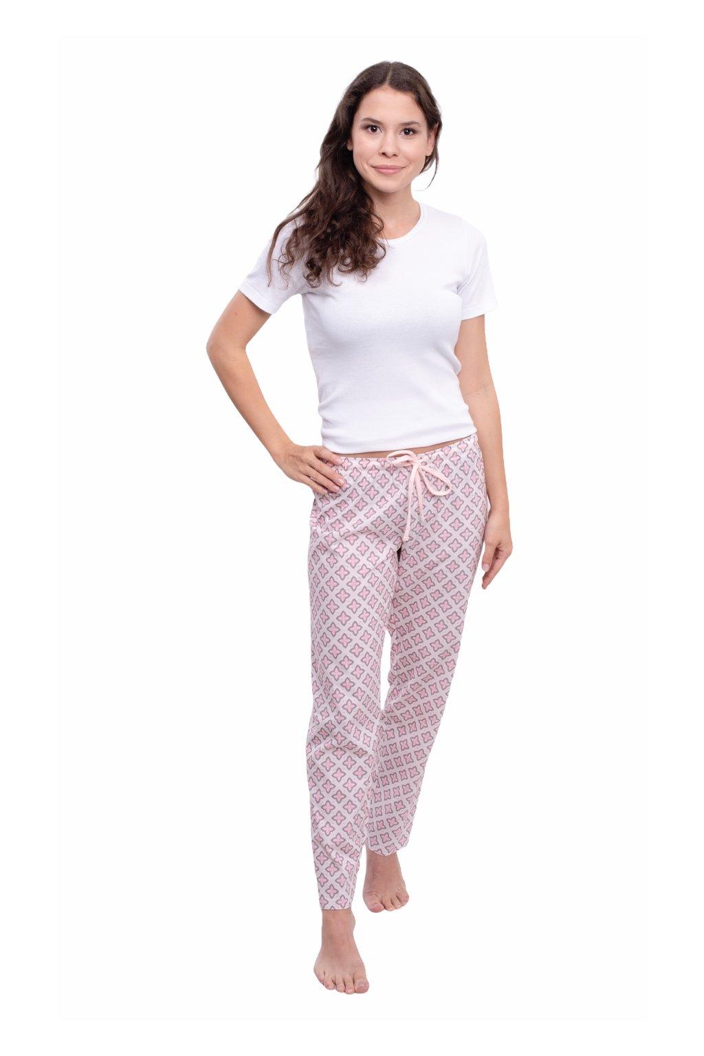 Dámské pyžamové kalhoty s dlouhými nohavicemi, 104395 51, růžová