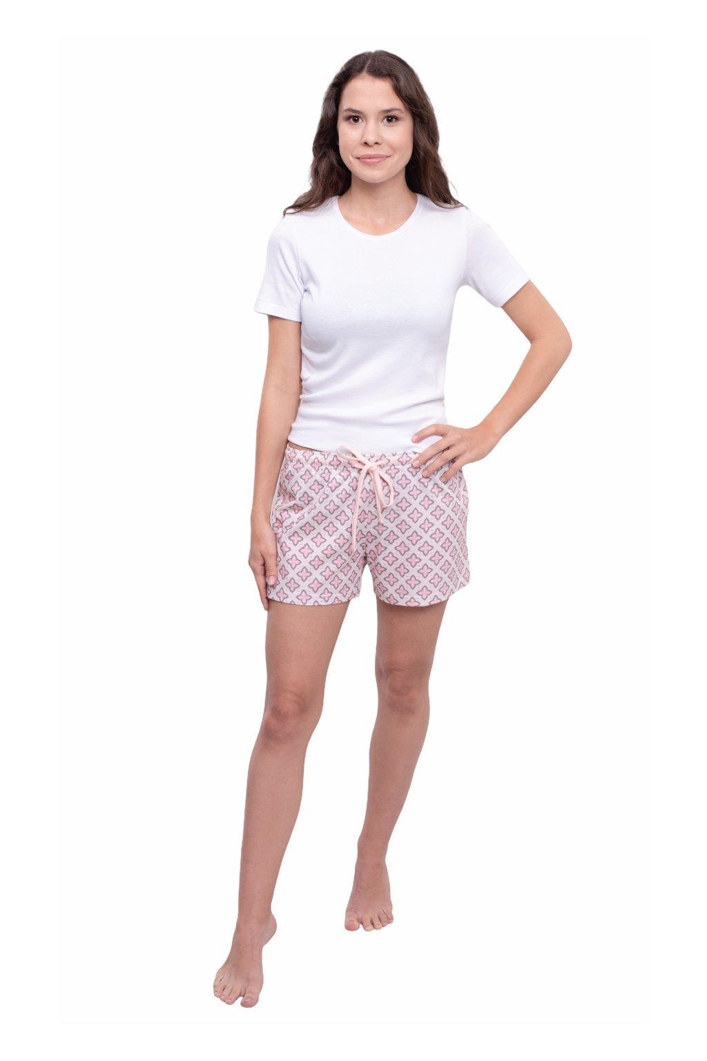 Dámské pyžamové kalhoty s krátkými nohavicemi, 104394 51, růžová