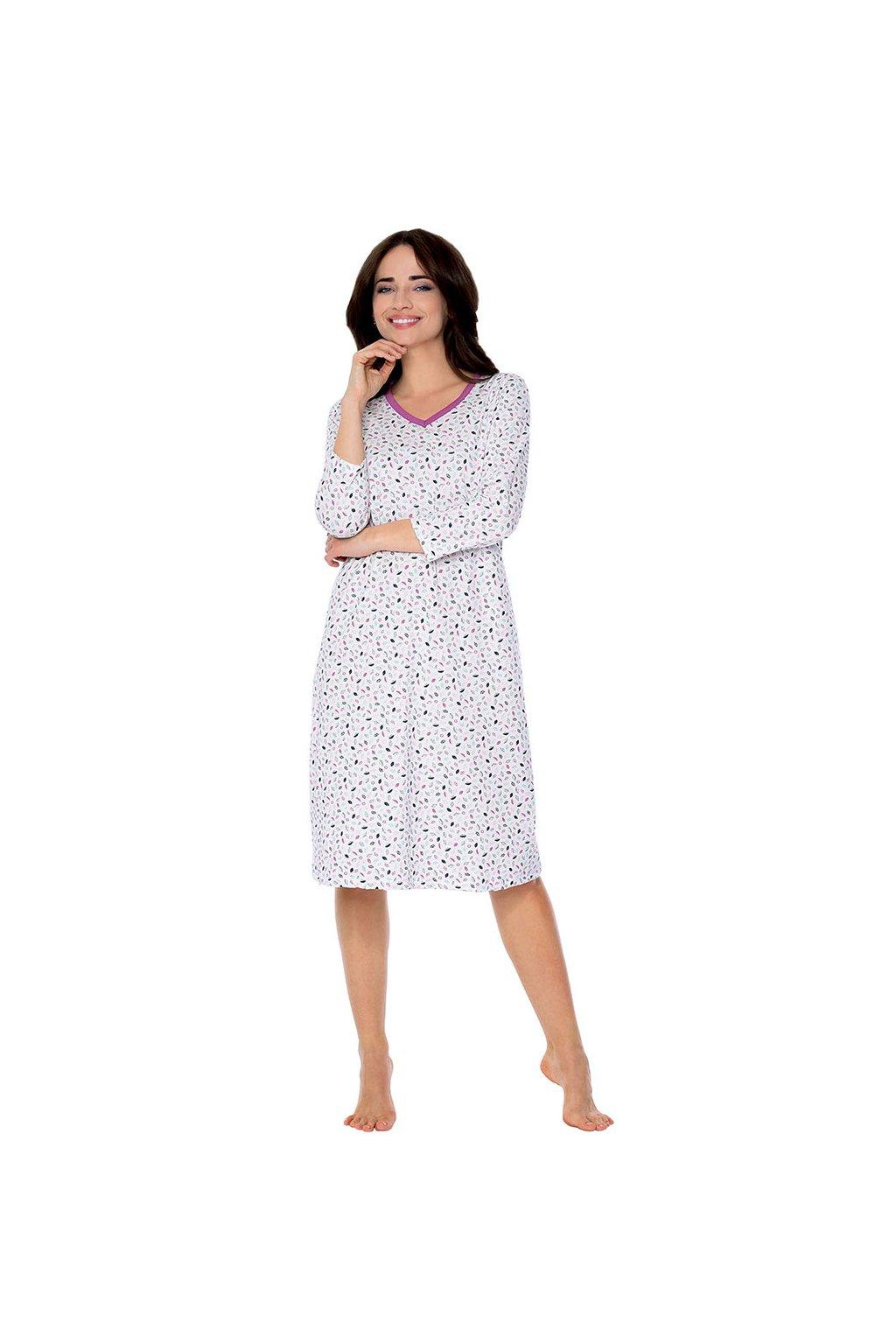 Dámská noční košile s 3/4 rukávem, 104497 245, růžová
