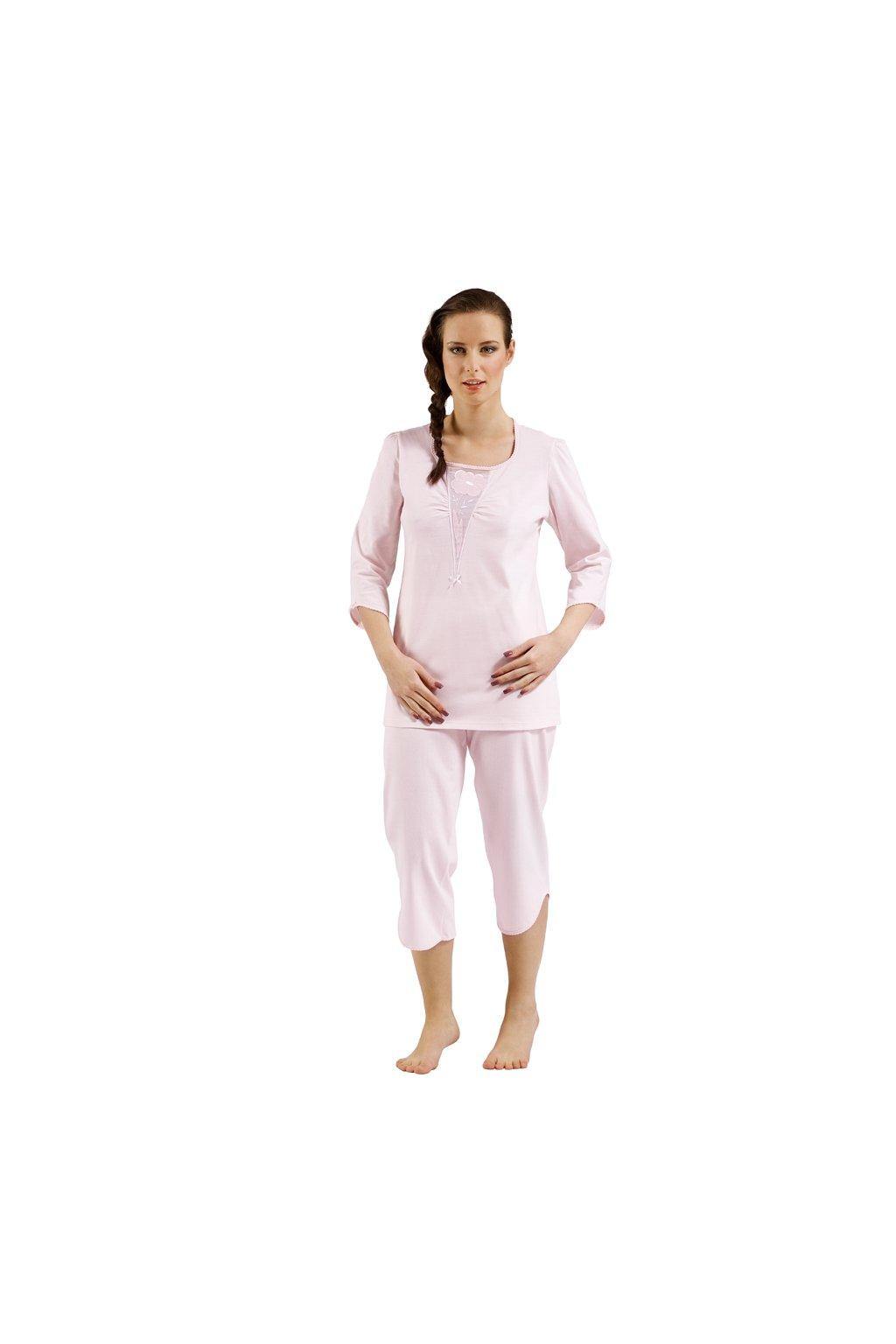 Dámské pyžamo s 3/4 rukávem, 104175 8, růžová