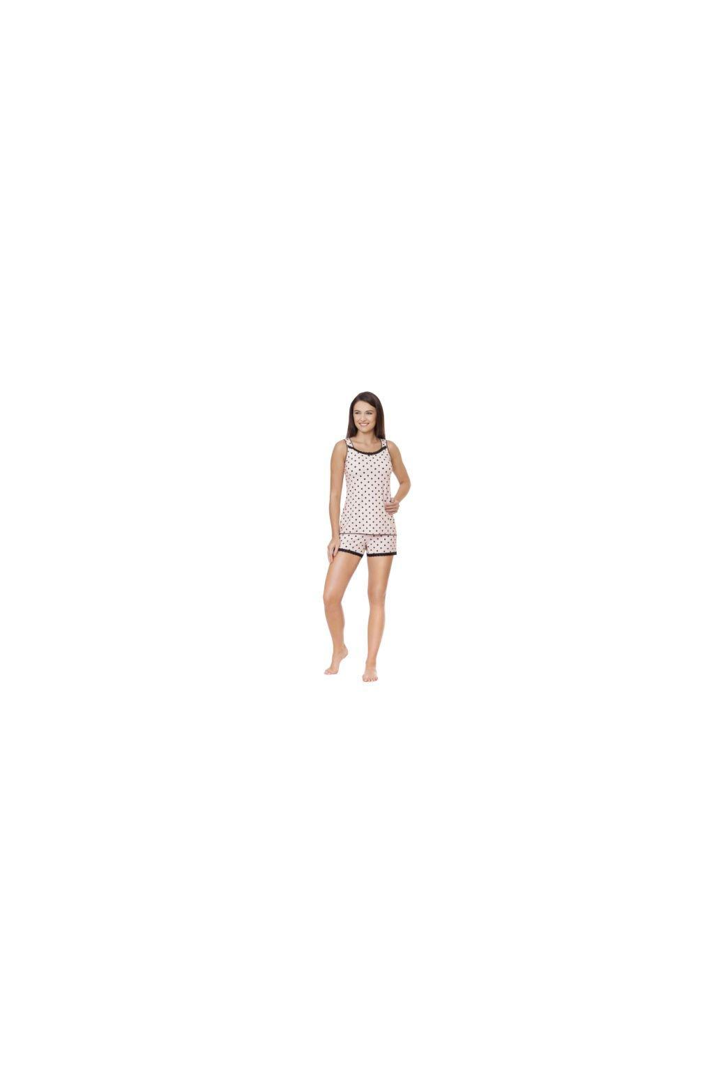 Dámské pyžamo se širokými ramínky, 104325 8, růžová