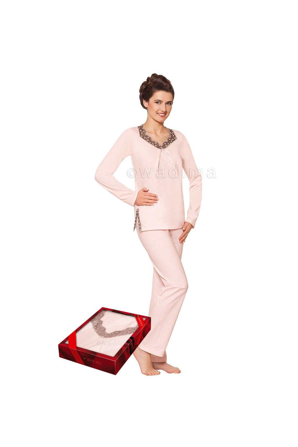 Dámské pyžamo s dlouhým rukávem, 104312 8, růžová