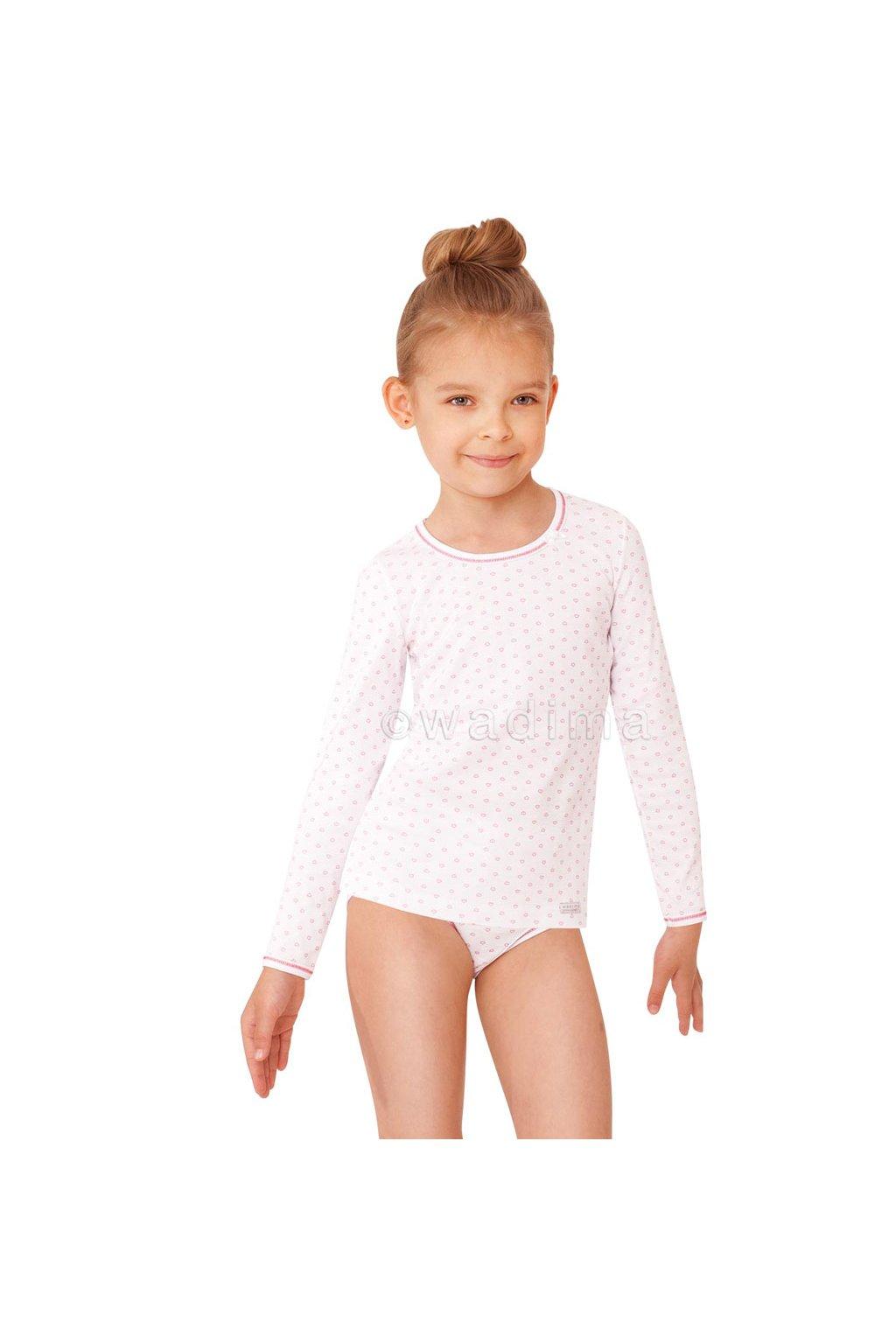 Dívčí košilka s dlouhým rukávem, 40251 11, růžová
