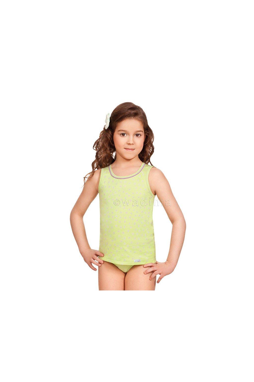Dívčí košilka se širokými ramínky, 40241 10, růžová