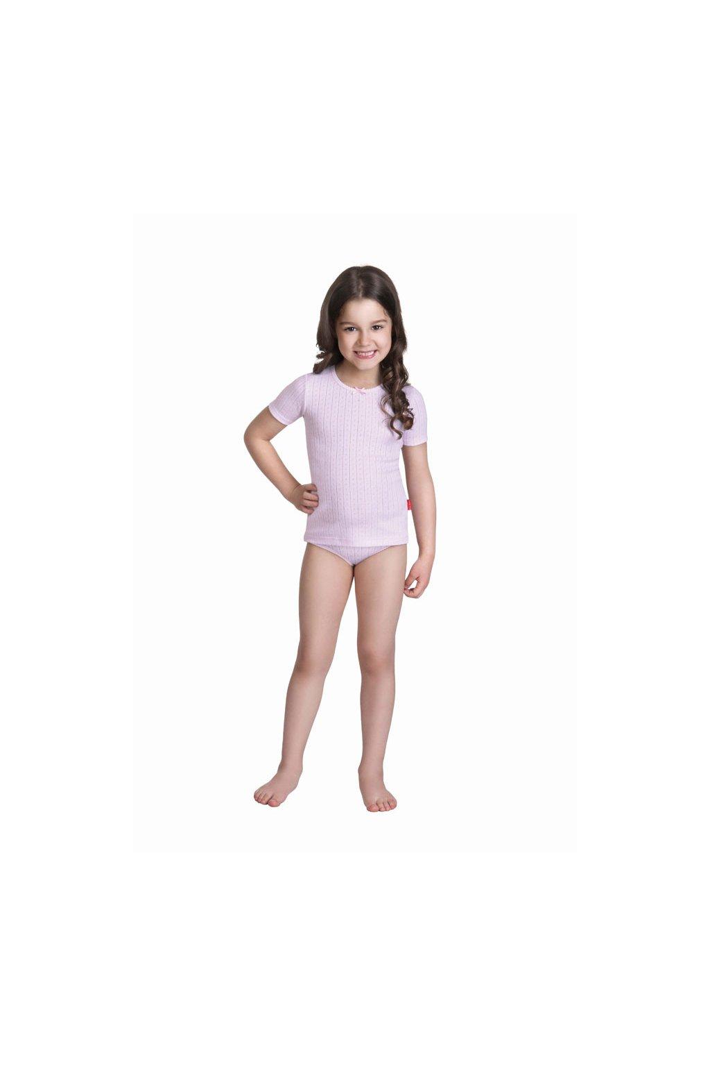 Dívčí košilka s krátkým rukávem, 40229 225, růžová